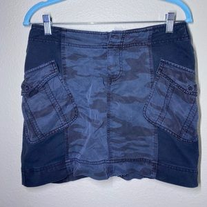 Marrakech Blue Camo Mini Skirt